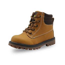 $enCountryForm.capitalKeyWord Canada - Boys Classic Martin Boots Children Outdoor Fashion Ankle Boots for School Hiking Kids Toddler Anti-slip Autumn Shoes New