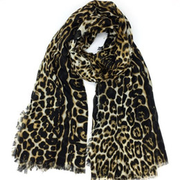 $enCountryForm.capitalKeyWord NZ - Autumn and winter classic print leopard pattern cotton material women's Scarf scarves pashmina shawl big size 190cm * 130cm