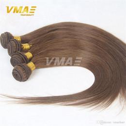 virgin hair thick ends 2019 - Brazilian human virgin 8# Straight Human Hair Weave 3 Bundles Lot 8A Grade Hair Weaving Hot Beauty Cheap Soft Thick End