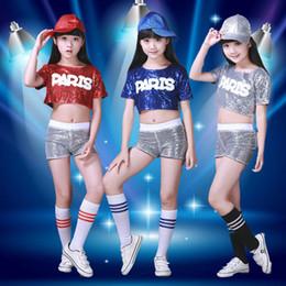 Children Jazz Dance Costume Leak Navel Sequined Student Cheerleading  Performance Boys Girls Modern Dance Hip-hop Clothing 4efc7373aa51