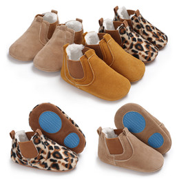 Discount girls shoes years old - 0-1 year old baby cotton shoes, soft bottom toddler shoes, girls, baby high leopard boots.C-430
