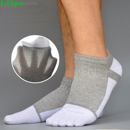 Short Compression Socks NZ - 10pieces=5pairs=1lot Spring and Summer five Fingers Socks Mesh Compression Toe Socks Men Cotton Boat Crew Breathable Short