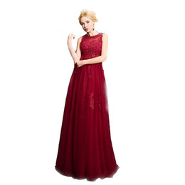 red neck wedding dresses UK - New Free Freight High Quality Long Wedding Dresses Round Collar Red Lace And Peg A Font Wedding Dresses DH96