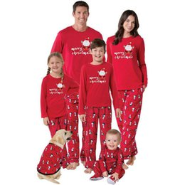 d904d8f45a22 Wholesale Family Matching Christmas Pajamas Canada - 2017 Family Matching  Christmas Pajamas PJs Sets Kids Adult