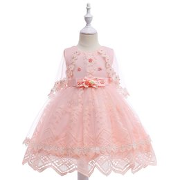 $enCountryForm.capitalKeyWord UK - Bridal Little Girl Ball Gown Flower Girl Dress Knee Tulle Kids Pageant Dresses For 12 Year Olds With Bow