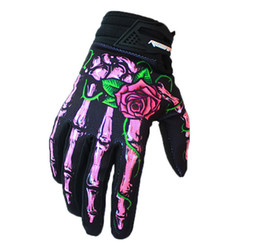 $enCountryForm.capitalKeyWord UK - 2018 wholesale Hot style 3 Color Roses and bones Knuckle length refers to cycling gloves bicycle gloves cross-country mountain bike gloves