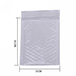 Envelope White Canada - Wholesale- 10X Kawaii Waterproof White Pearl Film Bubbel 11*15 Envelope Bulle Bag Mailer Padded Shipping Envelopes With Bubble Mailing Bags