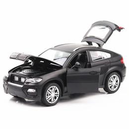 $enCountryForm.capitalKeyWord Australia - BMW X6 SUV 1 28 Scale Diecast Alloy Model Pull Back Sound Light Collection Toy