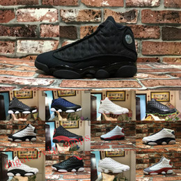 Cats elastiC band online shopping - 13s Mens Basketball Shoes M GS Hyper Royal Italy Blue Bordeaux Flints Chicago Bred DMP Wheat Olive Ivory Black Cat Men Sports Sneakers