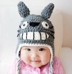 da6605fab41 Totoro Crochet Knitted Hat Baby Boys Girls Winter Christmas Gift Cap  Newborn Infant Toddler Children Totoro Beanie 100% Cotton Photo Props