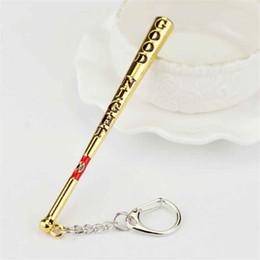 $enCountryForm.capitalKeyWord Canada - Suicide Squad Jewelry Baseball Bat Good Night Test Keychain Harley Quinn Key Rings Gift For Holder Chaveiro Car Key Chain
