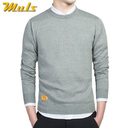 knitted pullover for men UK - Male sweaters men best style O neck mens sweaters MULS brand pullover jersey for man autumn winter 4XL knitwear dress 2016 MS888