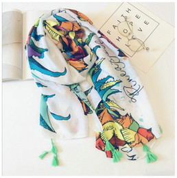 bohemian cotton shawl scarf NZ - 20 Designs!! Fashion Spring summer Scarves Women Tropical pineapple print Autumn Shawl Scarf Vacation bohemian seaside beach sunscreen Towel