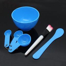 Ladies Makeup Sets NZ - 6 in1 Fashion Women Ladies Makeup Beauty DIY Facial Face Mask Bowl Brush Spoon Stick Tools Set Tools