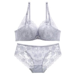 7818e35925 Floral lace comfortable seamless female underwear sets fashion wireless  one-piece sexy girl bra set intimates transparent panty