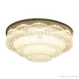 $enCountryForm.capitalKeyWord Australia - Luxurious Modern Crystal Chandelier Round high-end K9 Crystal ceiling Light Fixtures for living room dining room