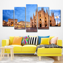 $enCountryForm.capitalKeyWord UK - Modular Wall Art Posters Home Decor Canvas Pictures 5 Pieces London Famous Church Landscape Paintings HD Prints