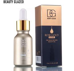 Oils For Skin Australia - Promotion!New brand BEAUTY GLAZED Brand 24k Rose Gold Elixir Skin Makeup Oil For Face Essential Oil Before Primer Moisturizing Face +ePacket