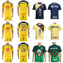 $enCountryForm.capitalKeyWord NZ - FC Club America Soccer Jersey Set AGUILAR PERALTA DOMINGUEZ 8 URIBE 7 MENEZ Mexican League Football Club Shirt Kits With Short