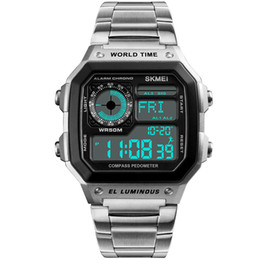$enCountryForm.capitalKeyWord NZ - Men's Outdoor Fashion Brand Compass Countdown Sports Watches Pedometer Waterproof Men LED Digital Wrist Watch Relogio Masculino