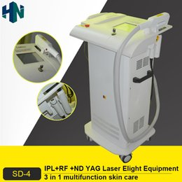 Hot sell E-Light Opt Ipl Shr Rf Nd Yag Laser 3 In 1 Multifunction Hair Removal Tattoo Removal Beauty Machine Salon Supplies