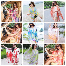 Discount beach shawl sleeves - Beach Shawl Paisley Sarong Scarves Women Summer Dresses Sunscreen Print Bikini Cover Ups Poncho Fashion Wraps Sexy Swimw