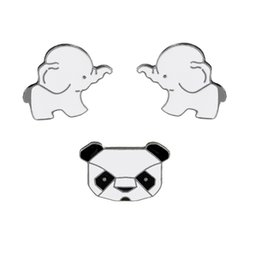 Chinese  Fashion Cartoon Animals Enamel Brooches Pins Set Cute Panda Elephant Pins for Clothes Bags Badges Wedding Lapel Pins Jewelry manufacturers