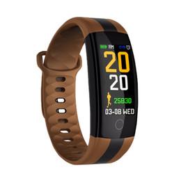 93b590d1d9c7 2018 presión arterial pulsera inteligente ritmo cardíaco reloj deportivo  medidor de pulso Bluetooth despertador pulsera inteligente para hombres y  mujeres