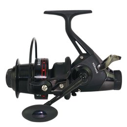 Chinese  18 New long shot front and rear drag system spinning reel 5.2:1 double brake feeder carp bait reel max drag 10KG freshwater reel manufacturers