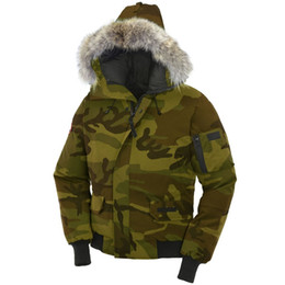 ea460c55e86 Canadian Winter Mens Bomber Homme Parka Jassen Camouflage Outerwear Big Fur  Hooded Fourrure Manteau Goose Down Jacket Coat Hiver Doudoune