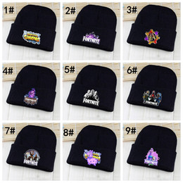 Hot sell Fortnite knitted hat women man fashion winter warm black crimping  cool hip hop caps wool hats 0ceb8f24bb63