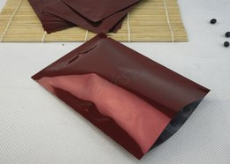 heat seal food bags Australia - 12x18cm, 200pcs lot Red aluminum foil flat heat seal bag, hot open sealable mylar plating plastic plain pouch storage coffee bean, food sack