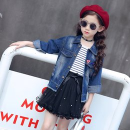 $enCountryForm.capitalKeyWord Canada - 4-12 Years Old Big Girls 2018 New Fashion Casual Jeans Jacket Children Outwear Long Sleeves Hole Denim Jacket Spring Autumn Coat