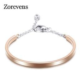 $enCountryForm.capitalKeyWord Australia - ZORCVENS Silver Gold Rose Gold Black Colors 316L Stainless Steel Crystal Bangels Bracelets for women