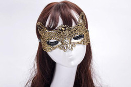 $enCountryForm.capitalKeyWord Australia - a51 2016 new fashion Nightclub bar sexy Lace cat female mask Hollow diamond fun mask party