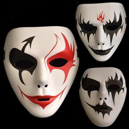 Painting Faces Australia - False Face Masquerade Hip Hop Adult Mask Hand Painted Cosplay Halloween Decor Party Product Props Masks Party Mask CCA10171 240pcs