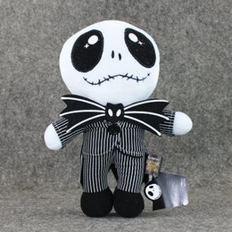 China 22cm The Nightmare Before Christmas Jack Skellington in Suit Plush Toy Stuffed Doll Gift for Kids supplier jack nightmare before christmas doll suppliers