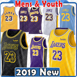 Top quality 2019 2018 Los Angeles 23 LeBron James Jersey Lakers 22 DeAndre  Ayton 77 Luka Doncic 35 Marvin Bagley III New Basketball Jerseys b37ca3503
