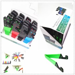 $enCountryForm.capitalKeyWord NZ - Universal Foldable Mobile Cell Phone Stand Holder for Smartphone & Tablet PC Multicolor Colorful V Shaped Phone Holder Bracket Free Shipping