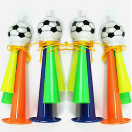 $enCountryForm.capitalKeyWord NZ - 21cm Plastic Horn 2018 Russia World Cup Stadium Fan Cheer Plastic Whistle Loudspeakers Soccer Football Party Carnival Sports Games Gift