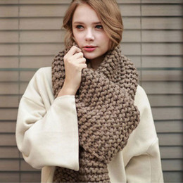 warming scarf Canada - Fashion popular autumn winter style warm men and women scarf Unisex stripe Pashmina Wool knitting pink black khaki scarf Y18102010