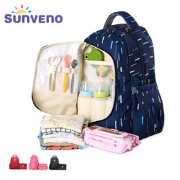 Wholesale SUNVENO in1 Diaper Bag Fashion Mummy Maternity Nappy Bag Baby Travel Backpack Organizer Nursing Bag for Baby Care Mother Kids