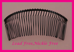 Led comb online shopping - 10PCS cm cm teeth Black Plain Metal Hair Combs for Bridal Hair Accessories at lead free and nickle free Bargain for Bulk