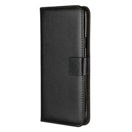 Discount iphone real 5s - Genuine Real True Leather Wallet Case For Iphone XS MAX XR X 8 7 6 6S SE 5 5S Galaxy S9 S8 S7 Edge Note 9 8 ID Credit Ca