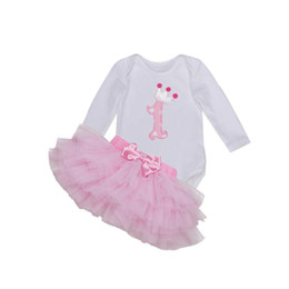 Discount baby girl winter birthday dresses - Kids Baby Girls Tutu Dress Set Spring Autumn Baby Girl Clothing Long Sleeve Birthday Party Clothes Set Bodysuit+Skirts 2