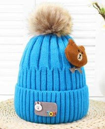 714f633c36953 Winter 2018 new Korean version of baby bear super elastic woolen hat super  soft and plush warm knitted hat for children and men