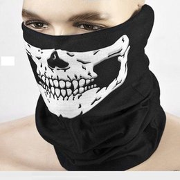 skull half face paintball mask 2018 - Cool Skull Bandana Bike Helmet Neck Face Mask Paintball Ski Sport Headband new fashion good quality low price Party Supp