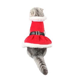 $enCountryForm.capitalKeyWord UK - Christmas Cat Costumes Pet Clothes Santa Claus Skirt Winter Warm Cat Clothes Christmas Pet Clothes