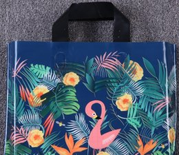 China Forest bird new hand bag clothes plastic bag gift shopping wholesale 33cm * 25cm * bottom 8cm suppliers