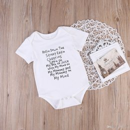 infant romper toddler Australia - Newborn Infant Baby toddlers Romper baby body suit shirt Jumpsuit Ropa Bebes Bodysuits Outfit Clothes New rompers Short Sleeve Pajamas